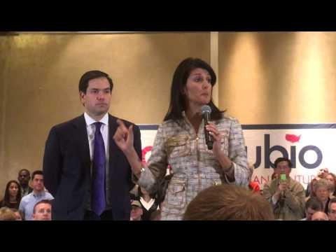 Marco Rubio and Nikki Haley Event Atlanta GA 02-29-2016