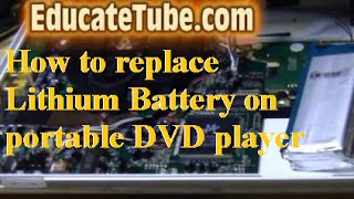 How to replace lithium battery on Philips portable DVD player for less than $8