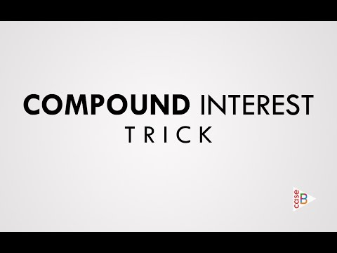 Compound Interest Very Easy trick without using formula