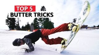 Top 5 Butter Snowboard Tricks #mytricklist