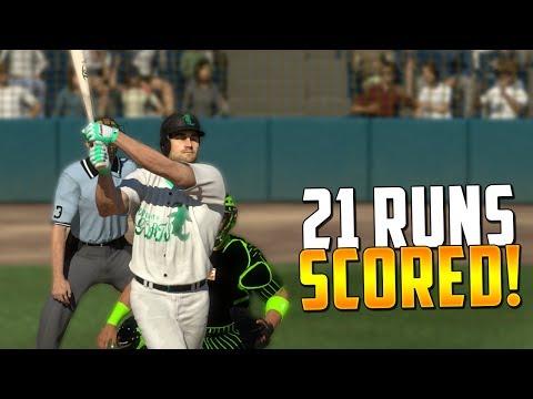 ABSOLUTELY INSANE 21 RUN GAME! MLB The Show 17 | Diamond Dynasty Ranked Seasons