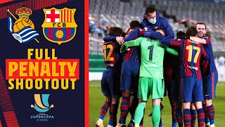 🧤 FULL PENALTY SHOOTOUT of the Spanish Super Cup (Real Sociedad 1-1 Barça) 🧤