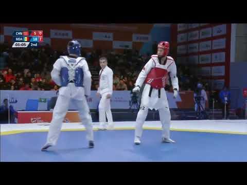Wuxi 2017 World Taekwondo Grand Slam Aaron COOK(MDA) vs Zhen WANG(CHN)