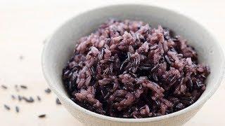 煮紫米飯 - 紫米飯怎麼煮