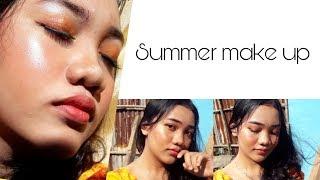 Tutorial summer make up look #tiafebriutami