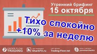 🌅 Утренний брифинг   15 октября   📈Прогноз рынка форекс и forts. EURUSD, GBPUSD, USDCAD, USDJPY