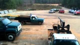 70' dump truck burnout