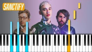 "Years & Years - ""Sanctify"" Piano Tutorial - Chords - How To Play - Cover"