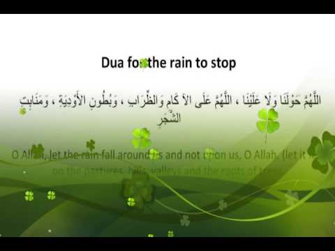 Dua for the rain to stop
