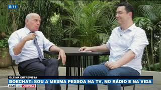 Boechat: Eu errava muito no começo do Jornal da Band