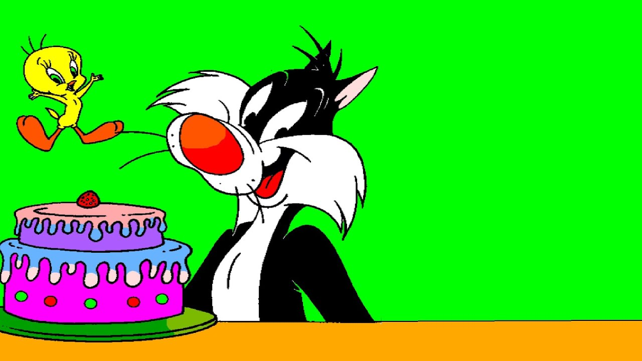 Tweety Bird Sylvester Cat And Delicious Cake