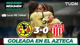 Resumen y Goles | América Femenil 3 - 0 Necaxa Femenil | Liga MX Femenil - Ap19  - J16 | TUDN