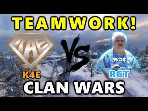 World of Tanks - K4E vs RGT - TEAMWORK! - Arctic Region - CLAN WARS  #33