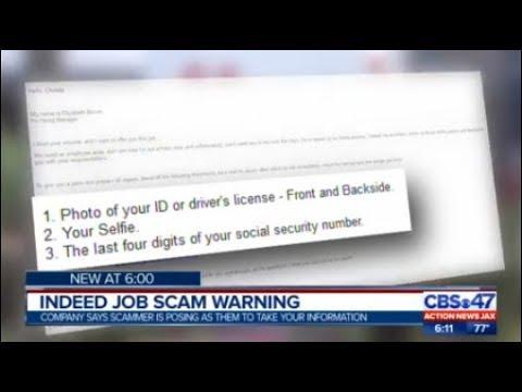 Indeed job scam warning