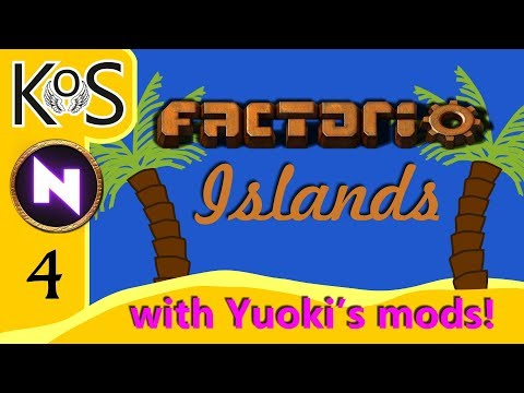 Factorio Islands! Ep 4: OF BITERS & POWER POLES - Yuoki modded coop MP Gameplay, Let's Play