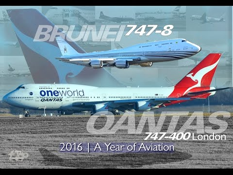 QANTAS AUSTRALIA Boeing 747 Oneworld Jumbo plus BRUNEI 747-8 London Stansted Airport