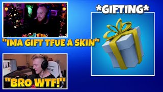 TimTheTatMan *GIFTED* A Skin To Tfue! (NEW GIFTING SYSTEM) - Fortnite Funny Moments #45