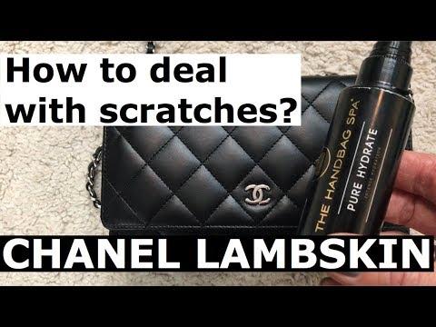 CHANEL LAMBSKIN SCRATCH. HOW TO FIX CHANEL LAMBSKIN. THE HANDBAG SPA. ANNA IN WARSAW.