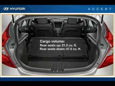 Tucson Dimensions 2017 >> Hyundai Accent Cargo Area Hyundai of Slidell - YouTube