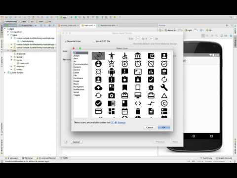 Adding Material Design Icons To The Action Bar In Android Studio