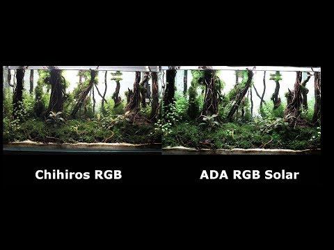ADA RGB Solar Vs Chihiros RGB Review - Aquascape lighting