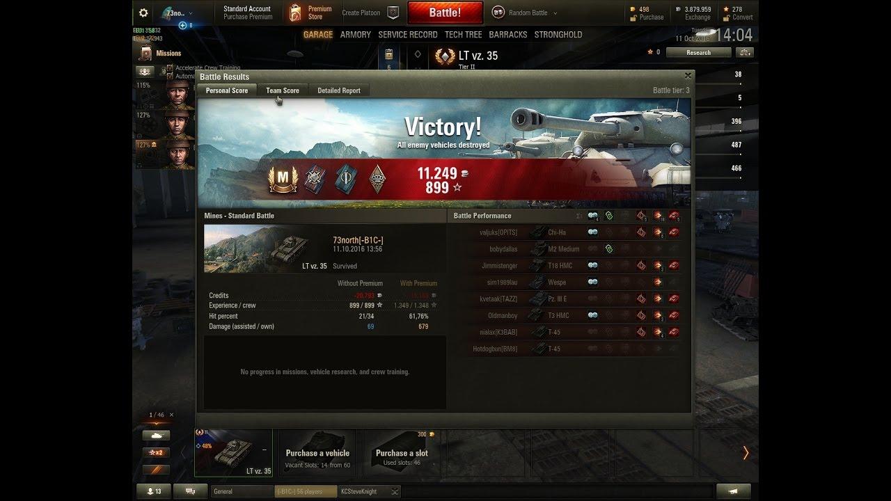Czech Lt Vz. 35 Ace Tanker 5 kills with 748 damage on Mines Tier 3 game 835e9e18b