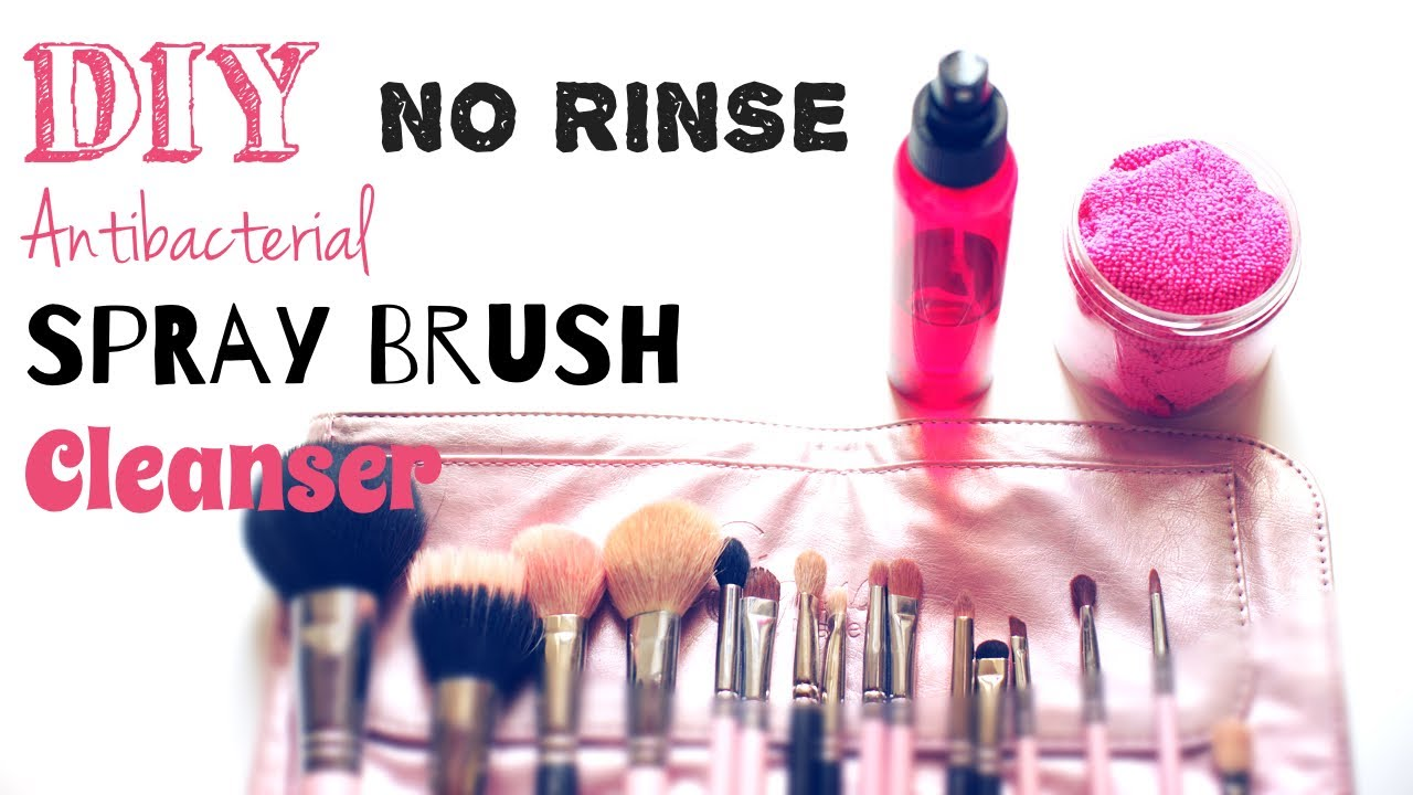 diy makeup brush cleaner spray. diy brush spray cleanser (no rinse!) + quick teaser of my project ;) diy makeup cleaner