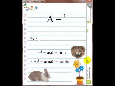 Lesson one Egyptian Arabic Alphabet With Words