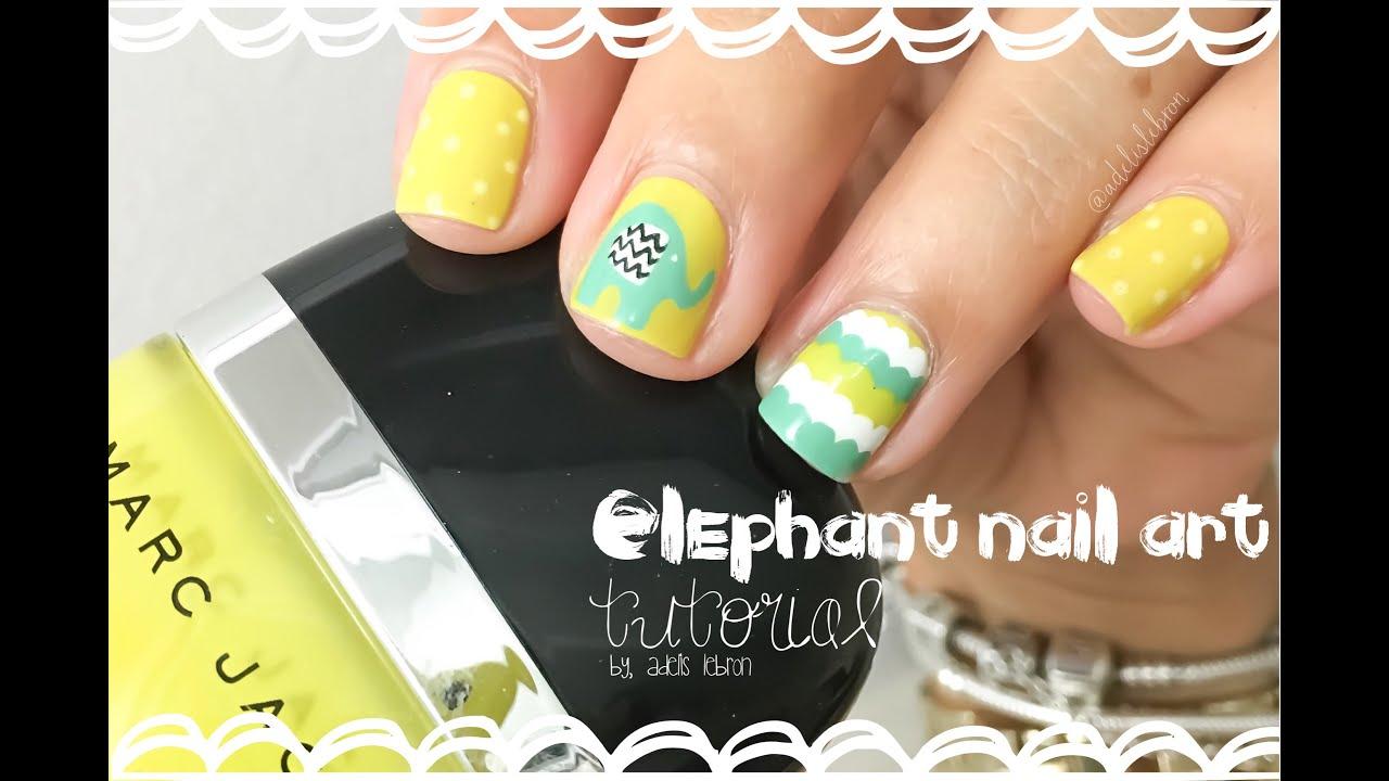 Elephant Nail Art Tutorial Youtube