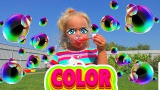 Learn Colors with Balloons and Finger family song nursery rhymes, Fun learning colors for kids