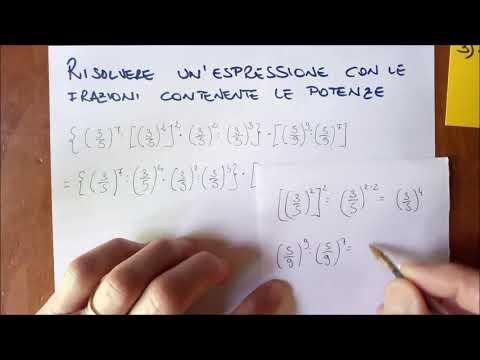 25 espressioni con le frazioni e potenze from YouTube · Duration:  6 minutes 49 seconds
