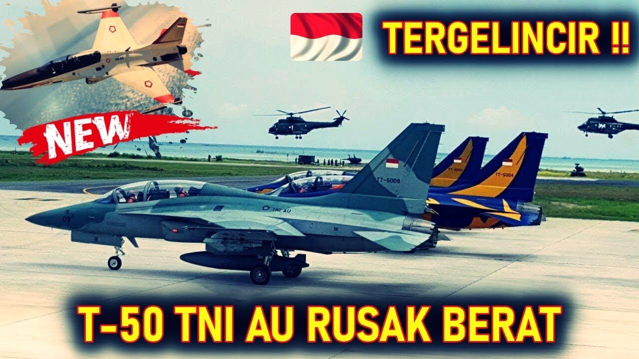 KABAR BURUUK!! PESAWAT T3MPUR TNI AU T-50 GOLDEN EAGLE TERGEL!NCIR RUS4K BERAT 2 PILOT SELAMAT