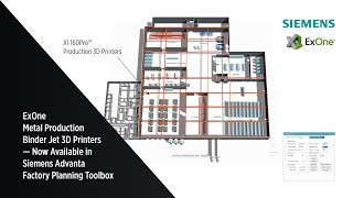 ExOne Metal Binder Jet now available in Siemens Advanta AM Factory Planning Toolbox