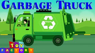garbage truck videos for children - green trash truck videos for children - rubbish trucks for kids