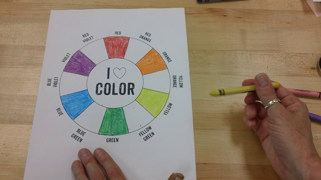 Color Wheel Primary Secondary And Tertiary Colors Youtube