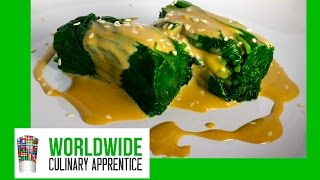 Spinach With Creamy Sesame Dressing - Japanese Technique