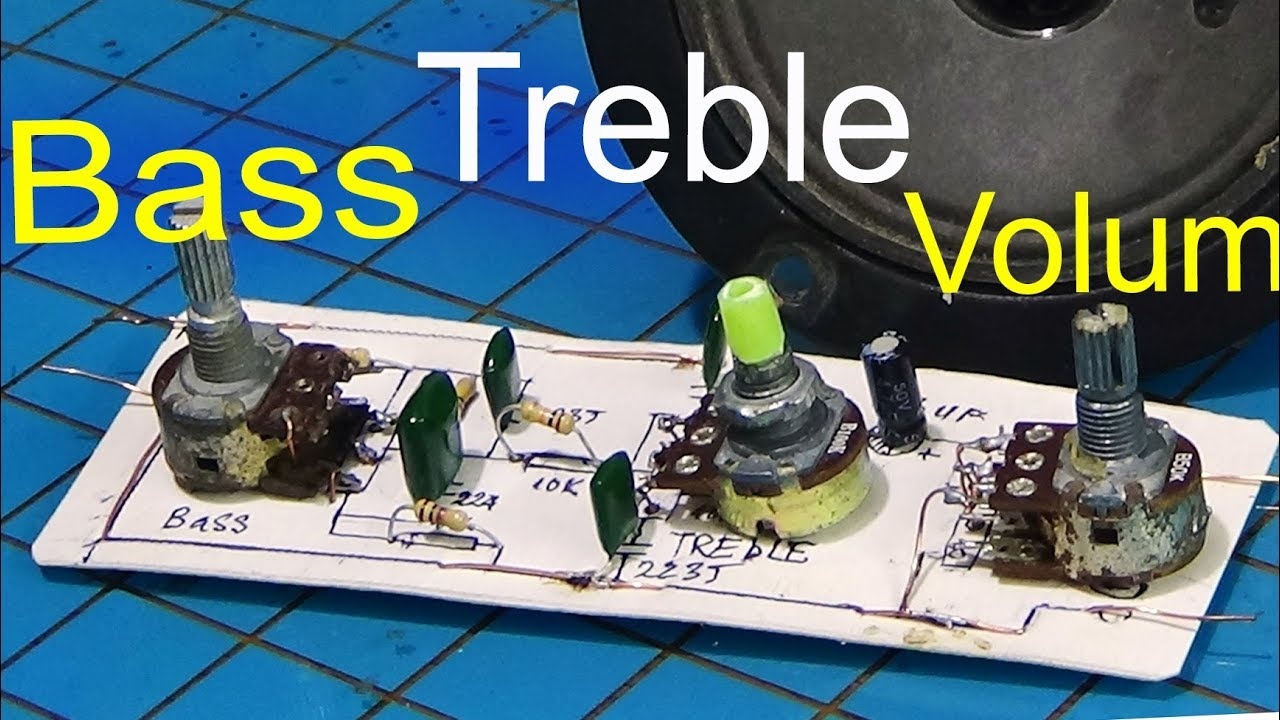 bass treble circuit how to make bass treble circuit amplifier using simple resistors [ 1280 x 720 Pixel ]