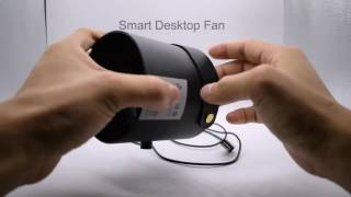 Fashion Metal Smart USB Mini Personal Desktop Fan With Touch Switch and Double Fans