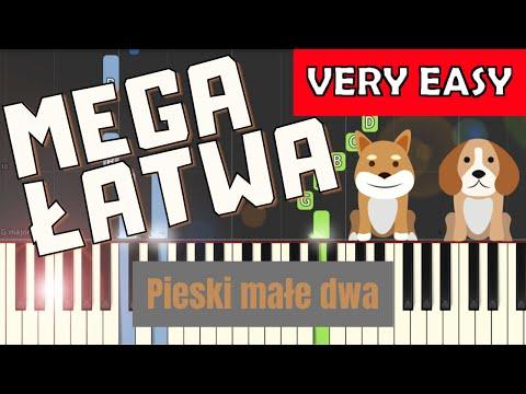🎹 Pieski małe dwa - Piano Tutorial (MEGA ŁATWA wersja) 🎹