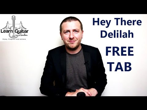 Hey There Delilah - Guitar Lesson - Free TAB - Plain White T's