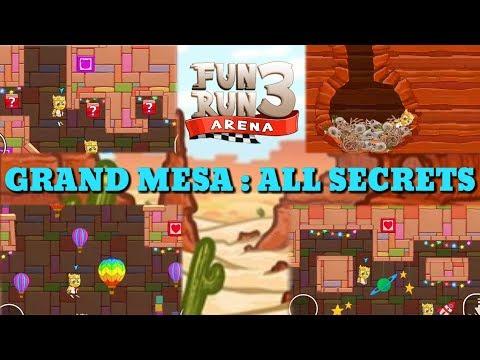 FUN RUN 3 : GRAND MESA ALL SECRET SPOTS !!
