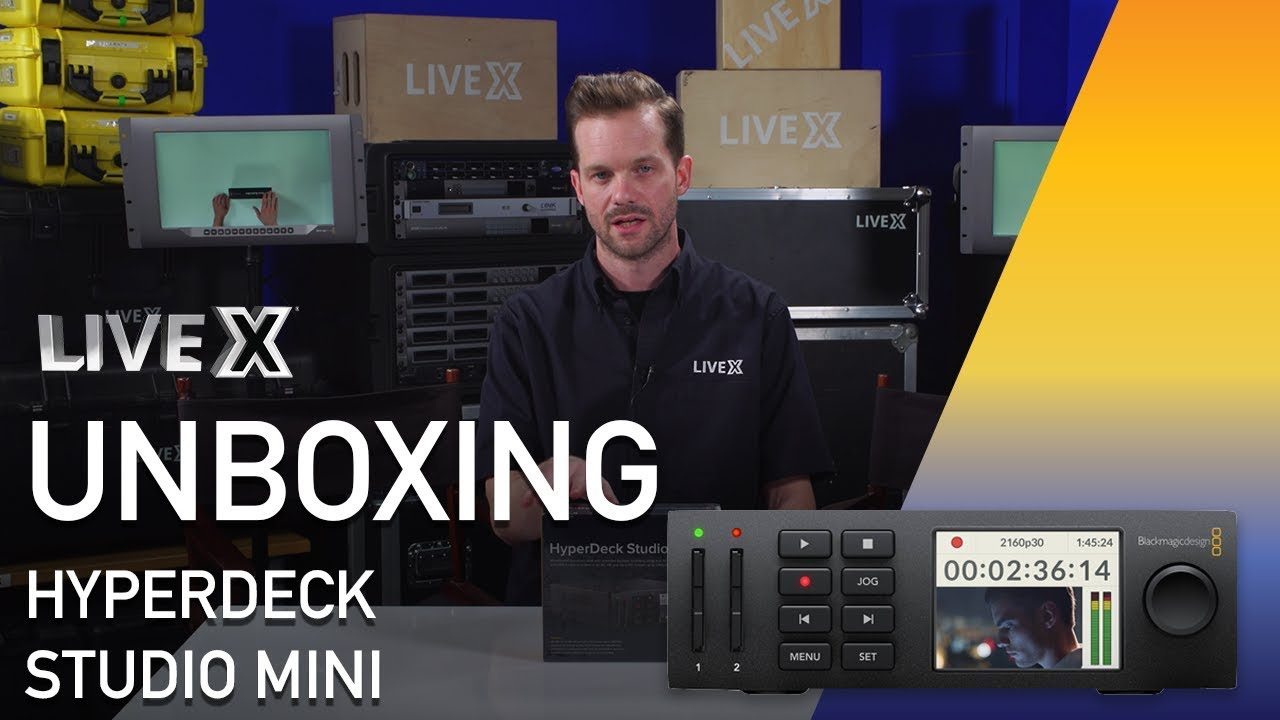 Unboxing Hyperdeck Studio Mini From Blackmagic Design Youtube