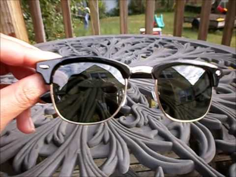 87e395397d9c WearMe Pro® Polarized Clubmaster Sunglasses Review - YouTube