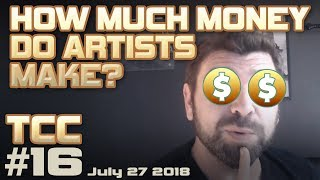 How much MONEY do concept artists make? + Freelance artist tips. TCC#16 July 27 2018