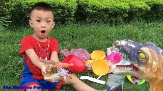 Learn Colors for Kids with Eggs Surprise Toys Dinosaurs | The Surprise  For Kids