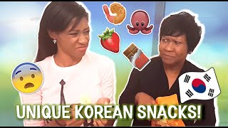 [외국인 먹방] 특이한 한국 과자! Americans Try *UNIQUE* Korean Snacks! thumbnail