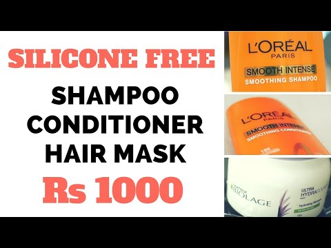 3 Silicone free hair products | shampoo conditioner hair mask | complete hair routine under Rs 1000