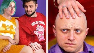 Hommes Chauves vs Hommes Avec Des Cheveux / Problèmes Capillaires Drôles et Astuces