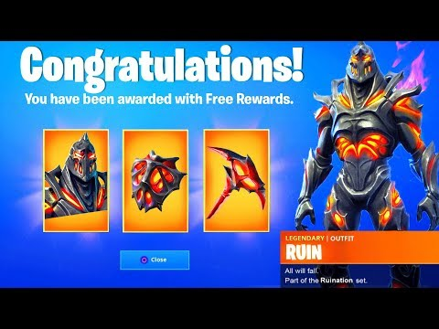 UNLOCK RUIN SKIN CHALLENGES! - FREE REWARDS BACKBLING AND PI