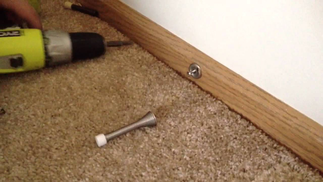 How To Install A Door Stopper   YouTube